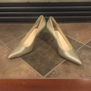 Cole Haan snakeskin pointy toe pumps size 7 1/2